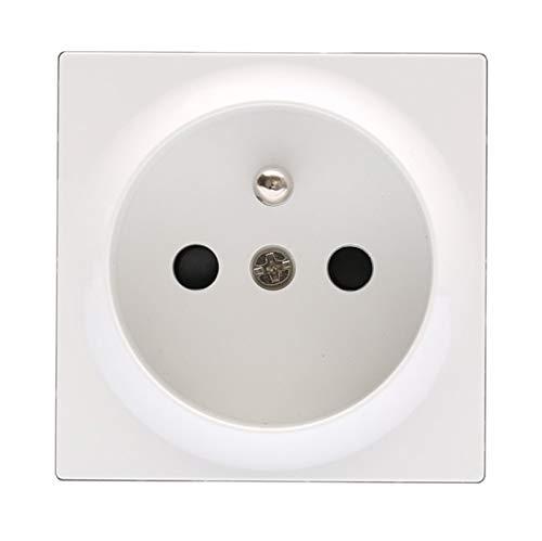 WSCHENG Teclas de función de Enchufe de Enchufe, Solo usadas para módulos de plástico Blanco y Negro de Pared (Color : White)