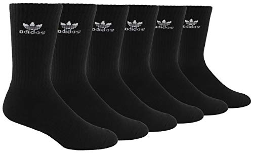 ADIDAS Originals Trefoil Crew - Calcetines (6 unidades), color negro