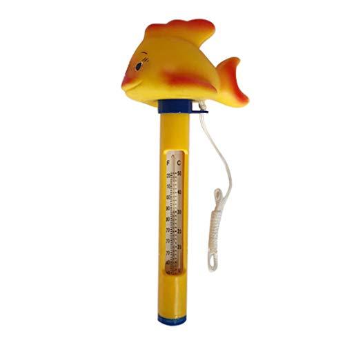 Janly Summer - Termómetro de agua flotante para piscina, termo de baño, balnearios, acuarios, estanques de peces de Janly (naranja)