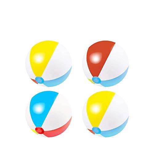 L+H 4X Wasserball | aufblasbare Wasser-Bälle 61 cm in Premium Qualität | Aufblasbarer Strandball für Kinder, ideal für Wasserspiele im Schwimmbad oder am Strand