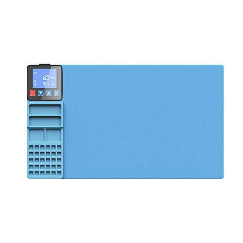 TOPQSC Máquina separadora de pantalla LCD, Alfombrilla calefactora , Máquina separadora de vidrio con pantalla LCD de calor, Herramienta de reparación de placas de precalentamiento para iPad iPhone