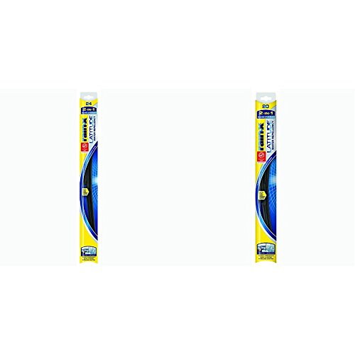 Rain-X LWR2420 Latitude Latitude 2-IN-1 Water Repellency Wiper Blade 24' and 20' Pack