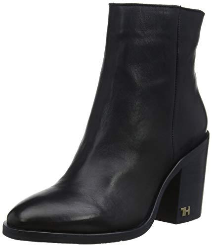 Tommy Hilfiger Damen Mono Color Heeled Boot Stiefeletten, Blau (Navy Blazer 463), 41 EU