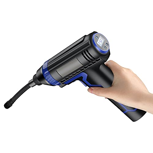 SXTYRL Aire Compresor, Compresor De Aire Portátil, Bomba De Neumático Eléctrico Digital con Presión, para Neumáticos De Coche, Negro