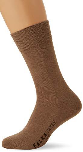 FALKE Herren Family M SO Socken, Blickdicht, Braun (Nutmeg Melange 5410), 43-46