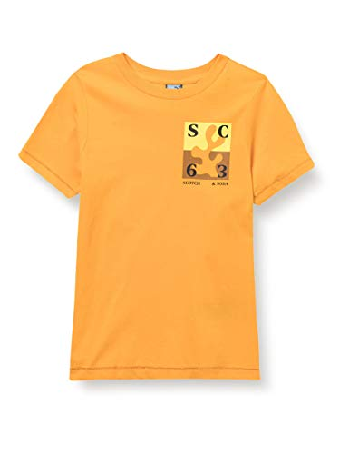Scotch & Soda Shrunk Short Sleeve Tee with Artwork in Organic Cotton Quality T-Shirt, 2083 Sunrise, 6 Bambino