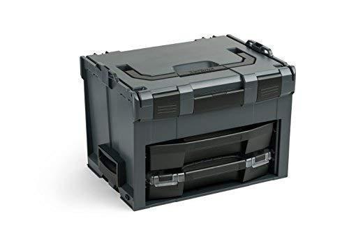 Bosch Sortimo LS-Boxx 306 Werkzeugkoffer Set in Anthrazit | Mit i-Boxx 72 C3 & LS-Schublade 72 | Bosch Werkzeugkoffer Leer | Kompatibel mit LBoxx