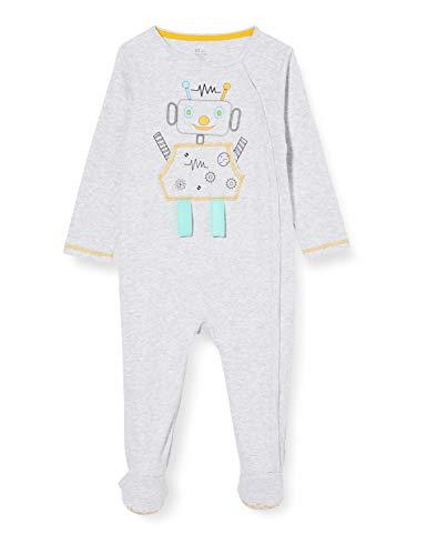 ZIPPY Pijama Velvet SS20 Juego, Light Grey Melange, 3/6M para Bebés