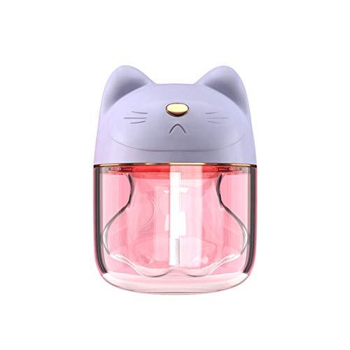 WO NICE 3-in-1 ultrasone luchtbevochtiger USB-Cat mini-luchtbevochtiger aroma mute-olie diffuser luchtreiniger met LED-licht mini USB-ventilator voor auto