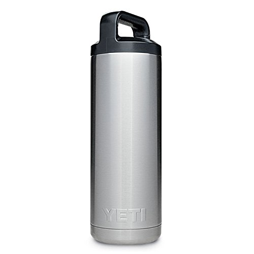 YETI Rambler 18 oz Bottle, Vacuum Insulated, Stainless Steel with TripleHaul Cap, Stainless