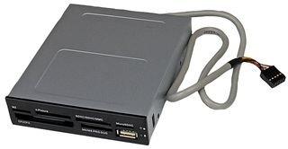 STARTECH.COM Lettore per Schede di Memoria Multimediali USB 2.0 22 in 1 Alloggiamento Frontale 3.5'', Colore Nero