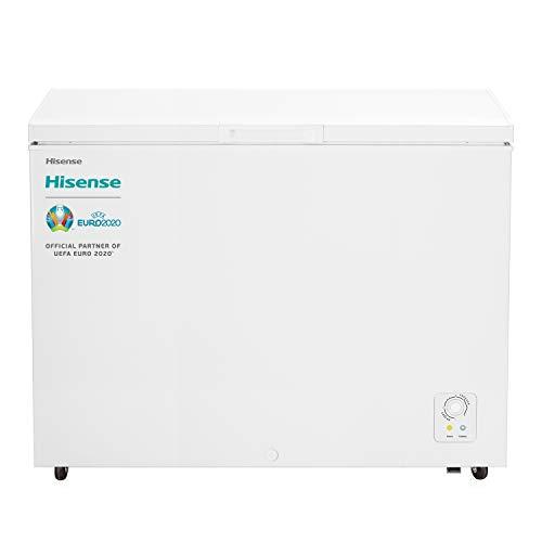Hisense FT403D4AW1 - Arcón Congelador Horizontal Clase A+, Color Blanco, 306L Capacidad Neta, 83Cm Alto, Función Dual Convertible en Modo Frigorífico, Cesta con Asa, Bajo nivel sonoro