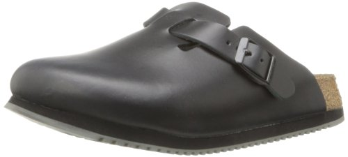 Birkenstock Unisex Professional Boston Super Grip Leather Slip Resistant Work Shoe,Black,45 M EU