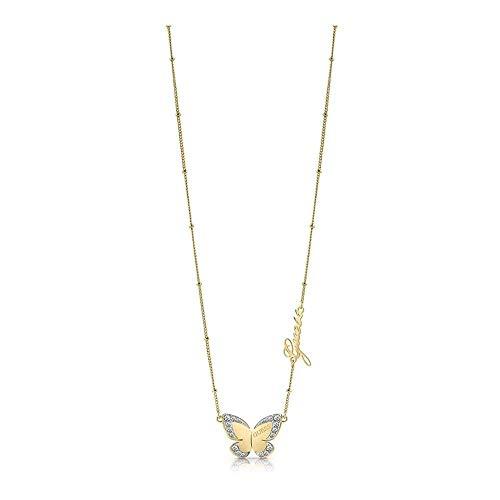 Indovinate Amore Farfalla Girocollo chirurgica 36 centimetri in acciaio inox. placcati oro UBN78025 [AC1140]