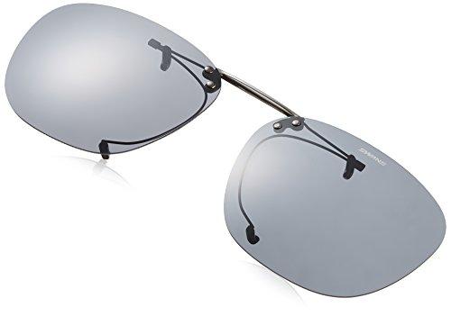 SWANS(スワンズ) 偏光 サングラス メガネにつける クリップオン 跳ね上げタイプ SCP-5 SMK2 偏光スモーク2