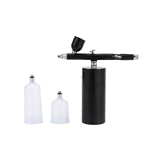 Kamenda Kit de AeróGrafo InaláMbrico, Compresor de AeróGrafo, AeróGrafo de Taza de Tinta de Alta Capacidad para Pintura de UUAs para Colorear Pastel