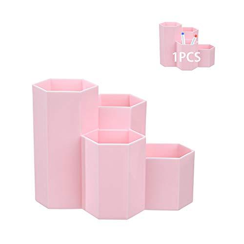 1 PCS Portalápices Hexagonal Creativo,Portalápices Hexagonal de Plástico,Organizador de Escritorio para Niños ,Soporte para Organizador de Bolígrafos,Organizador Pluma