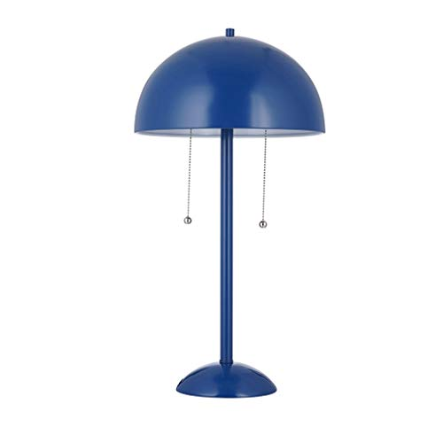 """Amazon Brand – Rivet Modern Metal Dome-Shaped Table Lamp, LED Bulbs Included, 21""""H, Matte Blue"""