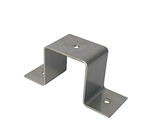 Abrazadera de tubo cuadrada, tubo cuadrado de acero inoxidable, 20 x 20, 25 x 25, 30 x 30, 40 x 40, 50 x 50 (40 x 40 mm)