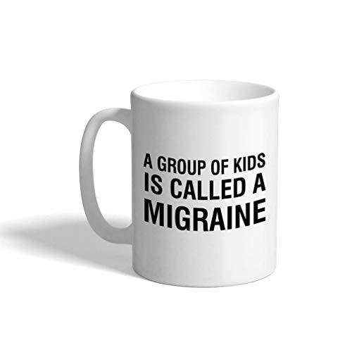 Kaffeetasse 11 Unzen Eine Gruppe von Kindern wird Migräne Inspiration Motivation Keramik Teetasse Design nur genannt
