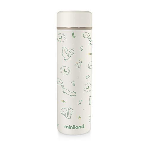 Miniland 89262 NATUR THERMOS CHIP - 450ml Isolierflasche für Babynahrung, mehrfarbig