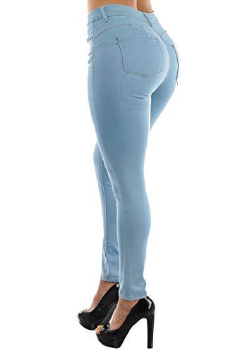Moda Xpress Juniors Size Dark Blue Skinny Jeans- Push Up Mid Rise Jean - Butt Lifting Jeans 10809D