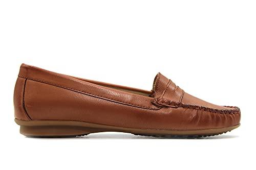 CASUAL - 903 Cuero - Zapato mocasín, de Piel, sin Cordones, para: Mujer