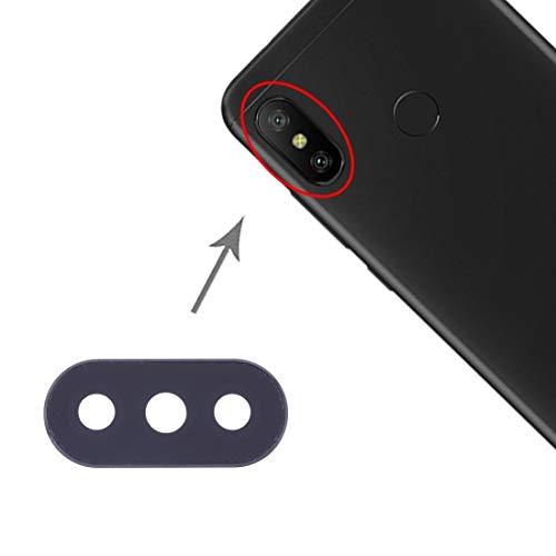 DaiMai 10 piezas de cubierta de lente de cámara para Xiaomi Redmi 6 Pro/MI A2 Lite (negro) WH (color: negro)