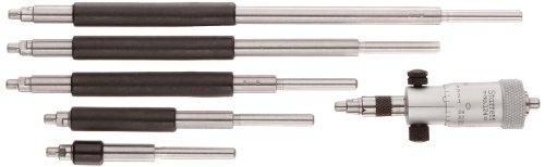 Starrett 124A - Juego de micrometros interiores de varilla sólida, rango de 5,7 cm, graduación de 0,001 pulgadas, precisión de +/-0,0001 pulgadas, sin funda