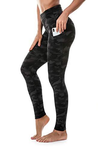 Ritiriko High Waisted Yoga Pants for Women Tummy Control Workout Running Capri Leggings with 3 Pockets