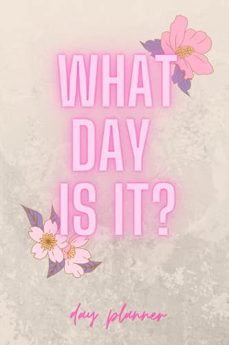 What Day Is It? Day Planner | 90 Day Planner |: A Page a Day Planner | Organize your Day | Schedule Appointments | Prioritize your Tasks