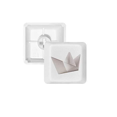 DIYthinker Origami Abstracto geométrico del patrón del Barco PBT Nombres de Teclas de Teclado mecánico Blanca OEM No Marcado Imprimir R2