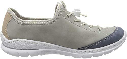 Rieker Damen Frühjahr/Sommer N2262 Slipper, Grau (Jeans/Cement/Nude/Silverflower/ 15 15), 36 EU