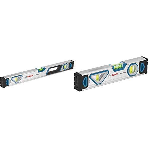 Bosch Professional Wasserwaage 60 cm (rundum ablesbar, Aluminium Gehäuse, robuste Endkappen, in Blister) + Wasserwaage 25 cm mit Magnet System (rundum ablesbar, Aluminium-Gehäuse, robuste Endkappen)