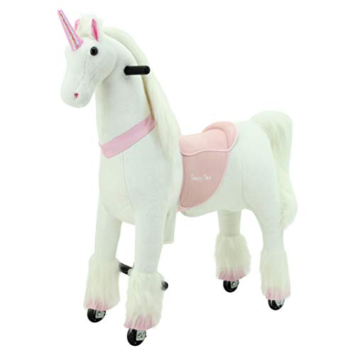 Sweety Toys 7264 running animals big UNICORN 4 to 9 years-RIDING ANIMAL