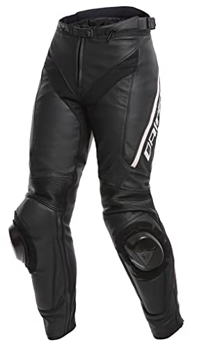 Dainese Delta 3 Damen Motorrad Lederhose Schwarz 54