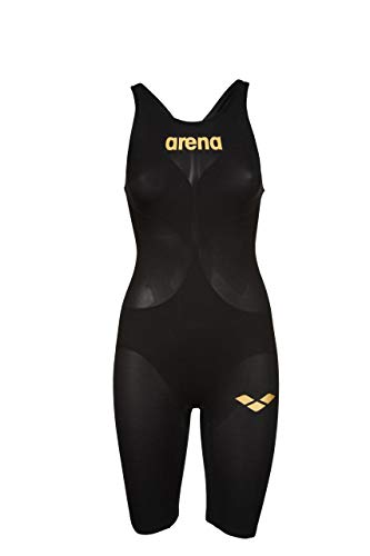 ARENA Powerskin Carbon Air2 Full Body Short Leg Oper Back Badeanzug Damen Black/Black/Gold Größe DE 36 | US 32 2020 Schwimmanzug