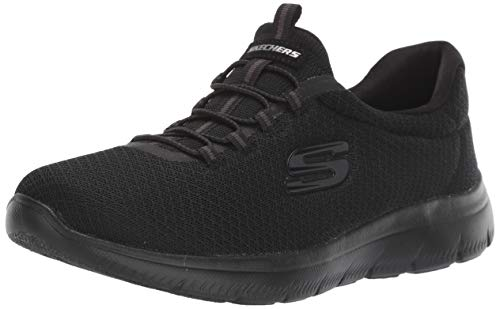 Skechers Women 12980 Low-Top Trainers, Black (Black), 7 UK  (40 EU)