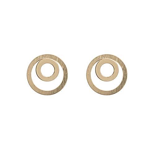 Twee cirkelvormige oorbellen verguld MAKE A WISH by TIMI OF SWEDEN