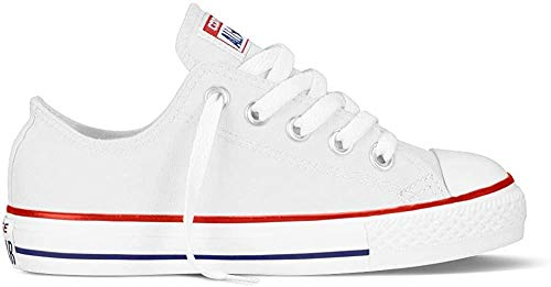 CONVERSE Chuck Taylor All Star Core Ox 015810-21-3, Unisex - Kinder Sneaker, Weiß (Blanc Optical), EU 25