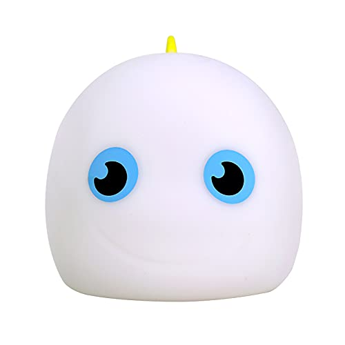 Porcyco Luz nocturna LED para niños, luz nocturna de silicona recargable por USB, cambio de color RGB, luz de noche regulable para bebés, control táctil