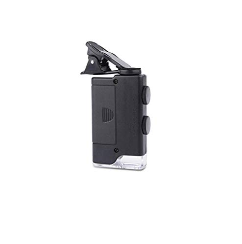 Houd Vergrootglas 100 keer 60 keer Handige Mobiele Telefoon Vergrootglas Microscoop LED Vergrootglas