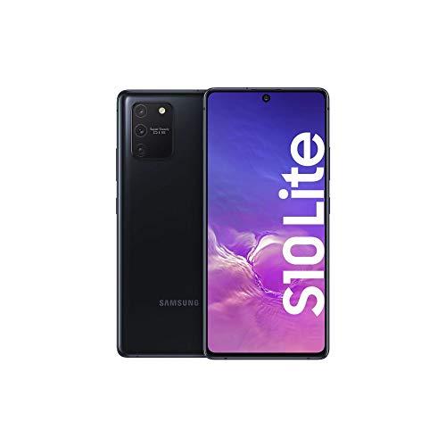 Samsung Galaxy S10 Lite Android Smartphone ohne Vertrag, 4.500 mAh Akku, Schnellldaden, 6,7 Zoll Super AMOLED Bildschirm, 128 GB/8 GB RAM, Dual SIM, Handy in schwarz, deutsche Version