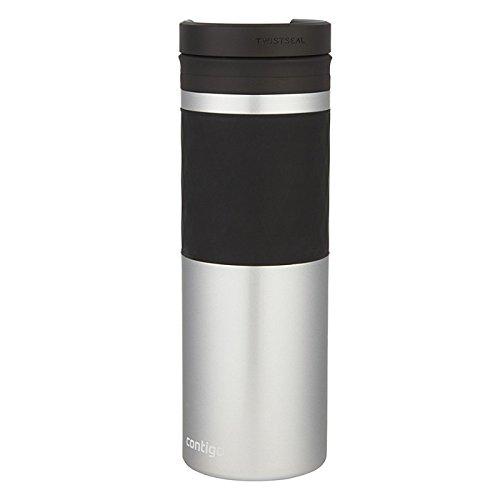 Contigo Glaze Mug de Voyage Mixte Adulte, Silver, 470 ML