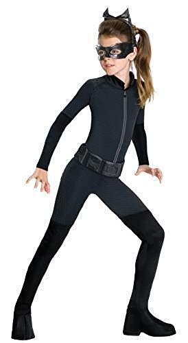 Mädchen Catwoman Batman Catsuit Schwarze Katze Einbrecher Halloween Film Kostüm Kleid Outfit 3-13 Jahre - Schwarz, Schwarz, 8-10 Years