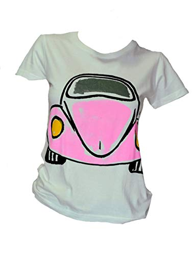 Beetle 9 Camiseta Talla XL66/50 cm Mujer Pintada a Mano con Pintura orgánica Transpirable