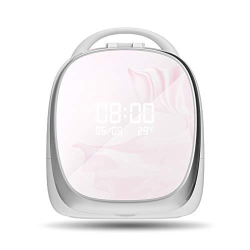HOODIE cosmetica-bewaardoos met spiegel, mini-dresser, instelbaar LED-licht, grote capaciteits-cosmetische geheugen-display box, cosmetica vitrine