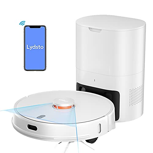 Robot Vacuum Cleaner with Self Emptying Dustbin, Lydsto R1 WiFi Connected Robotic Vacuum and Mop, 2700Pa Suction, Smart Floor Mapping, Self-Charging Robot Vacuum Work with App for Carpets, Pet Hair