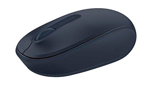 Microsoft Wireless Mobile Mouse 1850 (Maus, dunkelblau, kabellos, für Rechts- und Linkshänder geeignet)
