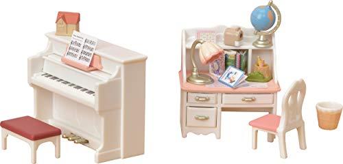 Sylvanian Families - Le Village - Le Set Piano et Bureau - 5284 - Meubles et Accessoires Poupée - Mini Poupées